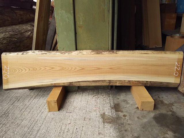 K-514 欅ケヤキ 国産 天然耳付き板 1430×300 天然乾燥材