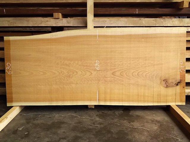 K-516 欅ケヤキ 国産 天然耳付き板 1640×700 天然乾燥材