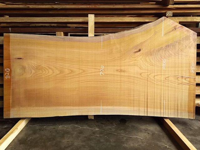 K-519 欅ケヤキ 国産 天然耳付き板 1880×850 天然乾燥材
