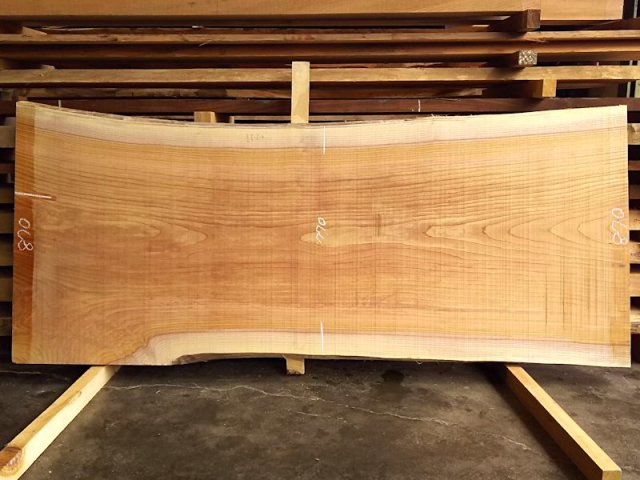 K-521 欅ケヤキ 国産 天然耳付き板 2050×850 天然乾燥材