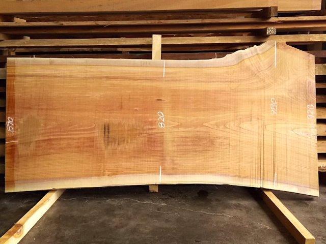 K-522 欅ケヤキ 国産 天然耳付き板 2020×900 天然乾燥材
