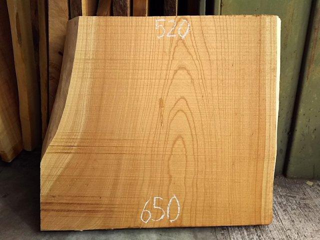 K-527 欅ケヤキ 国産 天然耳付き板 550×600 天然乾燥材
