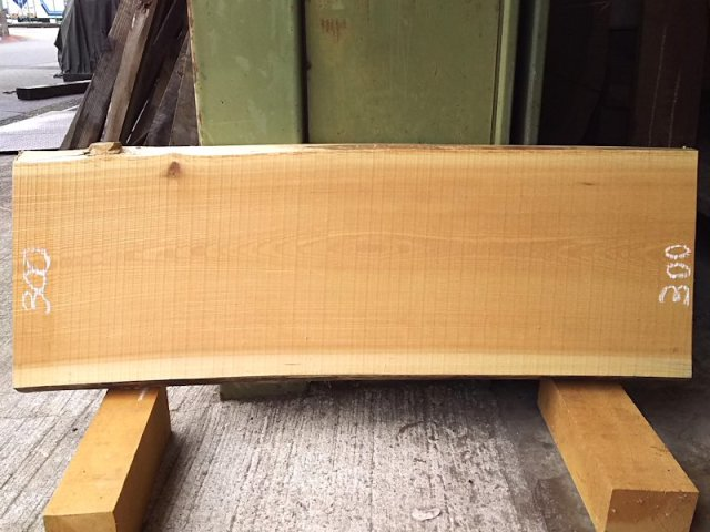 K-531 欅ケヤキ 国産 天然耳付き板 910×300 天然乾燥材