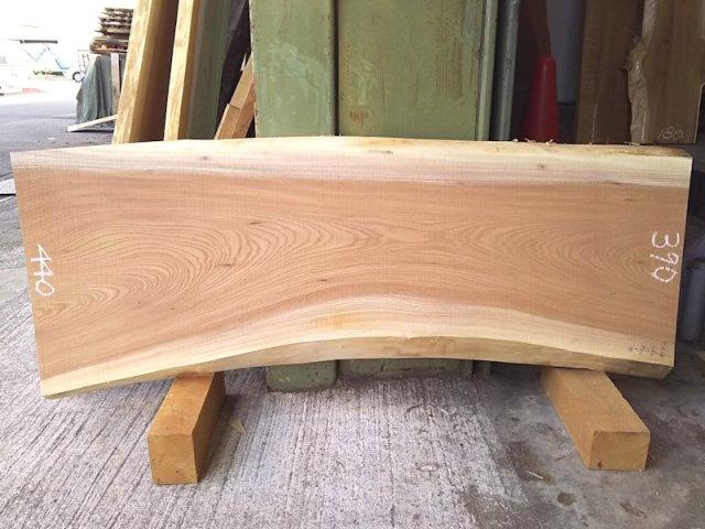 K-538 欅ケヤキ 国産 天然耳付き板 1180×450 天然乾燥材