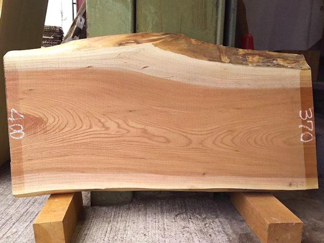 K-548 欅ケヤキ 国産 天然耳付き板 910×400 天然乾燥材
