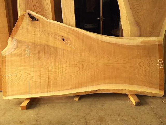 K-577 欅ケヤキ 国産 天然耳付き板 1800×800 天然乾燥材