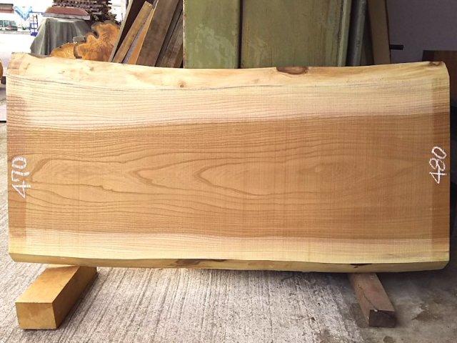 K-581 欅ケヤキ 国産 天然耳付き板 1150×550 天然乾燥材