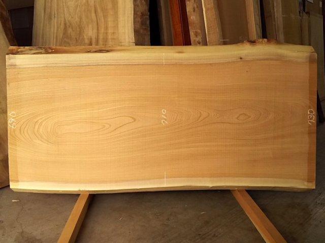 K-587 欅ケヤキ 国産 天然耳付き板 1610×800 天然乾燥材