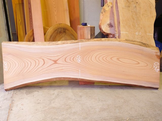 K-606 欅ケヤキ 国産 天然耳付き板 1960×600 天然乾燥材