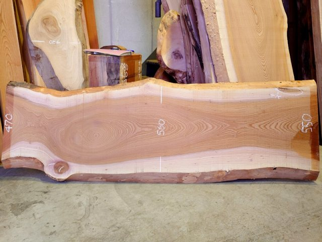 K-618 欅ケヤキ 国産 天然耳付き板 2030×650 天然乾燥材