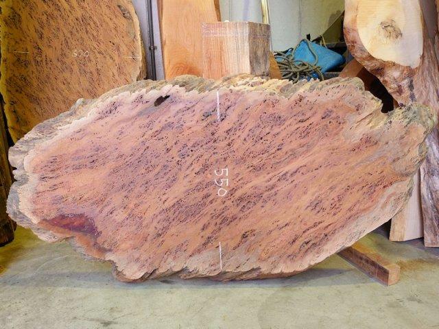 K-627 欅ケヤキ 国産 丸形天然耳付き板 1370×630 天然乾燥材