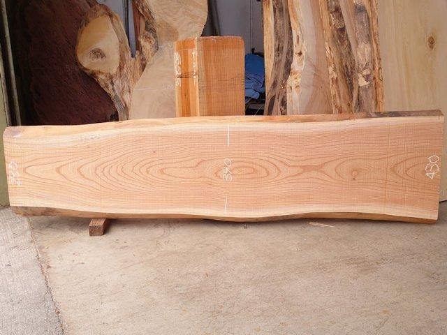 K-633 欅ケヤキ 国産 天然耳付き板 1780×450 天然乾燥材