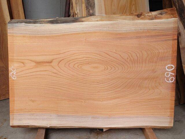 K-650 欅ケヤキ 国産 天然耳付き板 1020×750 表面電気カンナ済 天然乾燥材