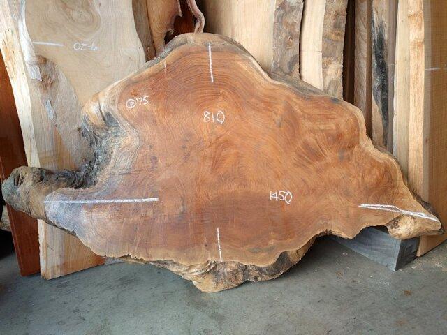 K-668 欅ケヤキ 国産 天然耳付き板 1600×1000 天然乾燥材