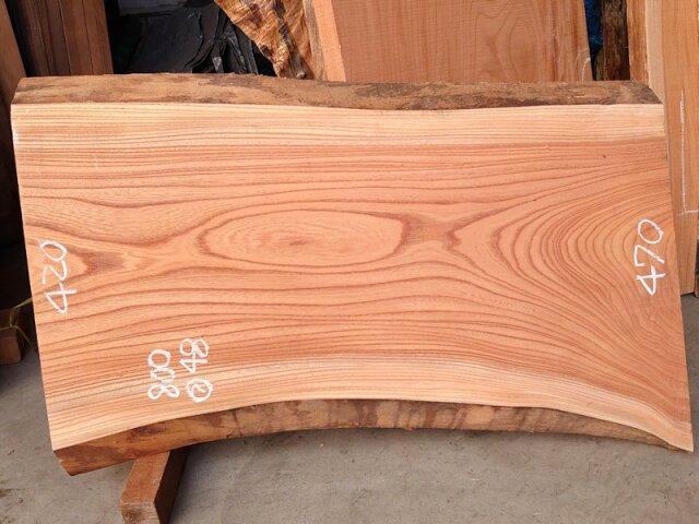 K-670 欅ケヤキ 国産 天然耳付き板 800×500 天然乾燥材