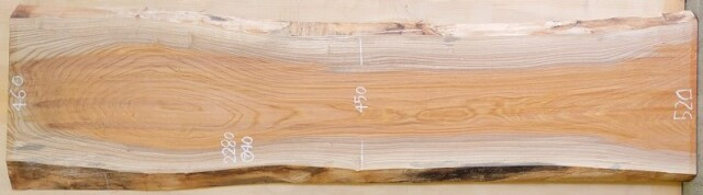 K-674 欅ケヤキ 国産 天然耳付き板 2280×550 表面電気カンナ済 天然乾燥材