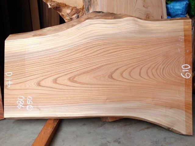 K-676 欅ケヤキ 国産 天然耳付き板 980×500 表面電気カンナ済 天然乾燥材