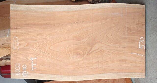 K-680 欅ケヤキ 国産 天然耳付き板 1000×600 天然乾燥材