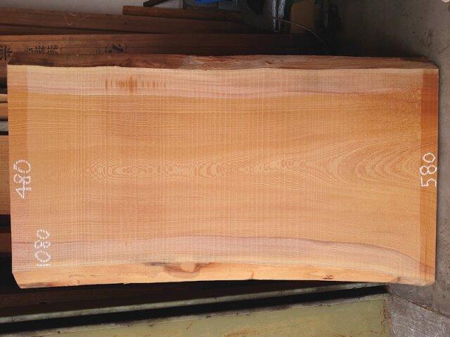 K-685 欅ケヤキ 国産 天然耳付き板 1080×600 天然乾燥材