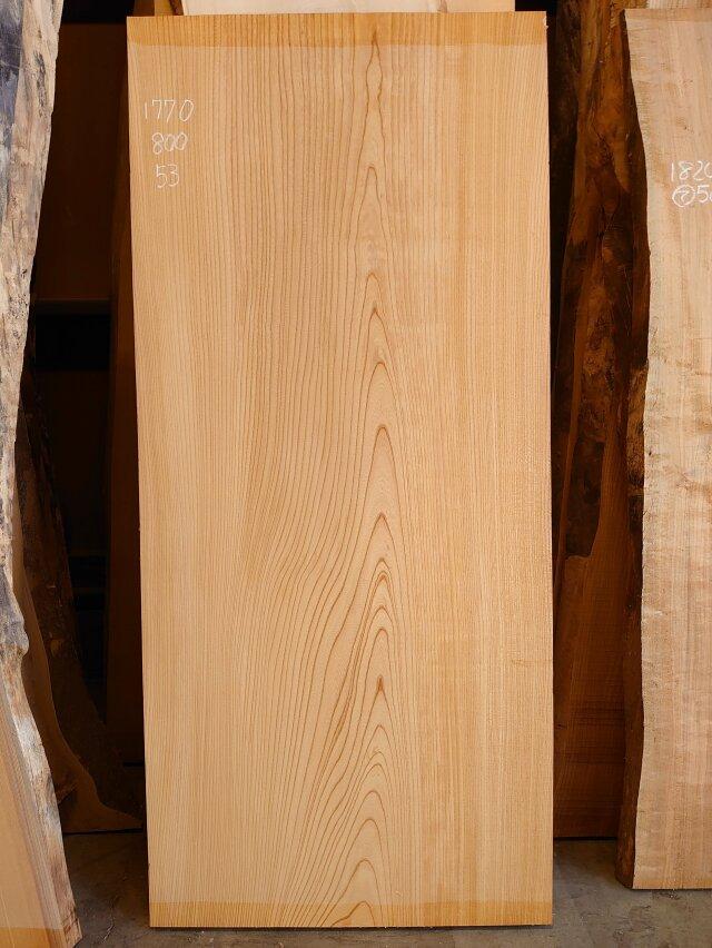 K-686 欅ケヤキ 国産 総赤身材 1770×800 天然乾燥材