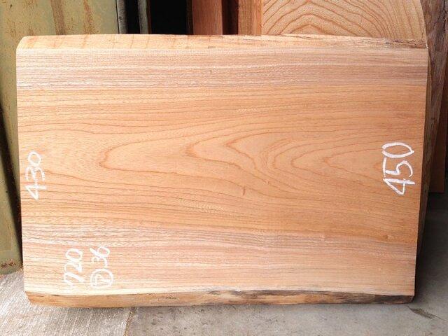 K-687 欅ケヤキ 国産 天然耳付き板 720×500 表面電気カンナ済 天然乾燥材