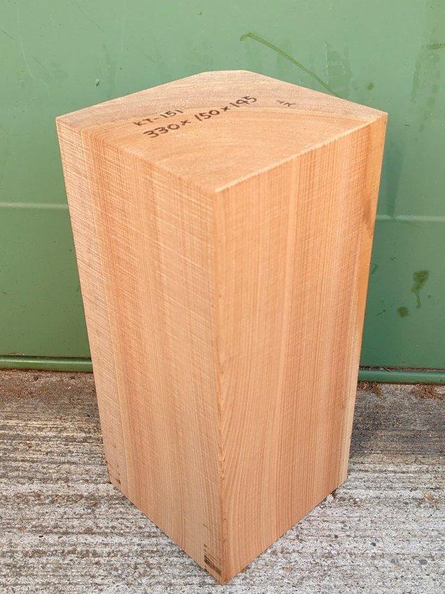 KT-151 桂カツラかつら 国産 彫刻用材 330×150×145 乾燥材