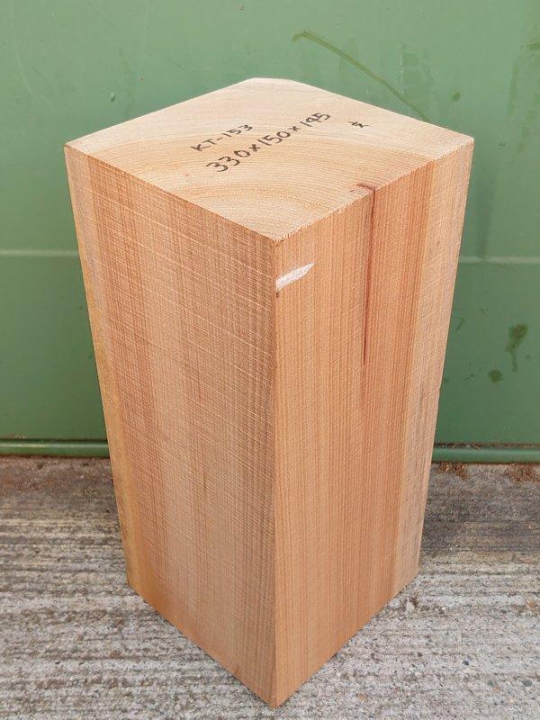 KT-153 桂カツラかつら 国産 彫刻用材 330×150×145 乾燥材