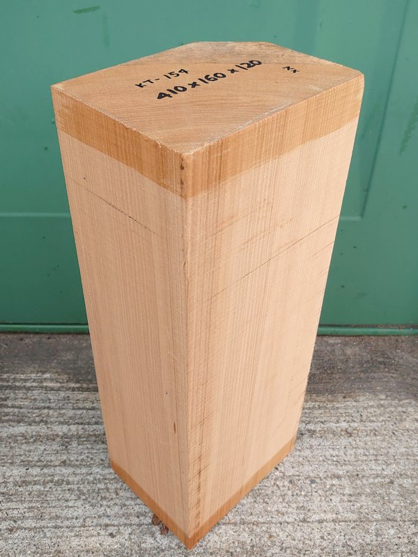 KT-154 桂カツラかつら 国産 彫刻用材 410×160×120 乾燥材