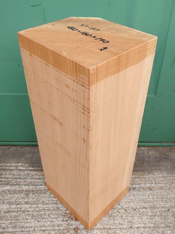 KT-157 桂カツラかつら 国産 彫刻用材 410×160×140 乾燥材