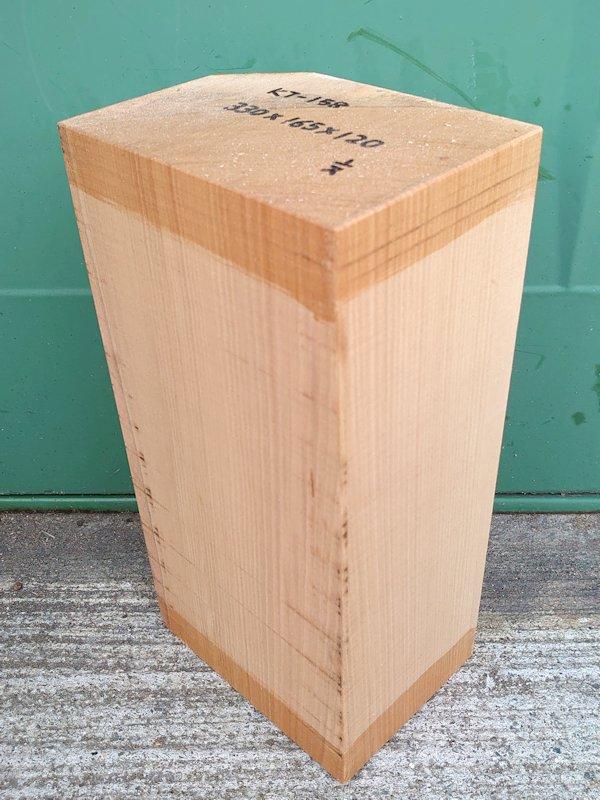 KT-158 桂カツラかつら 国産 彫刻用材 330×165×120 乾燥材