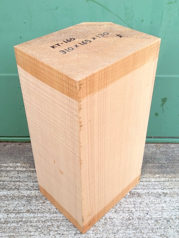KT-160 桂カツラかつら 国産 彫刻用材 310×165×130 乾燥材