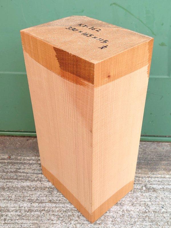 KT-162 桂カツラかつら 国産 彫刻用材 330×165×115 乾燥材