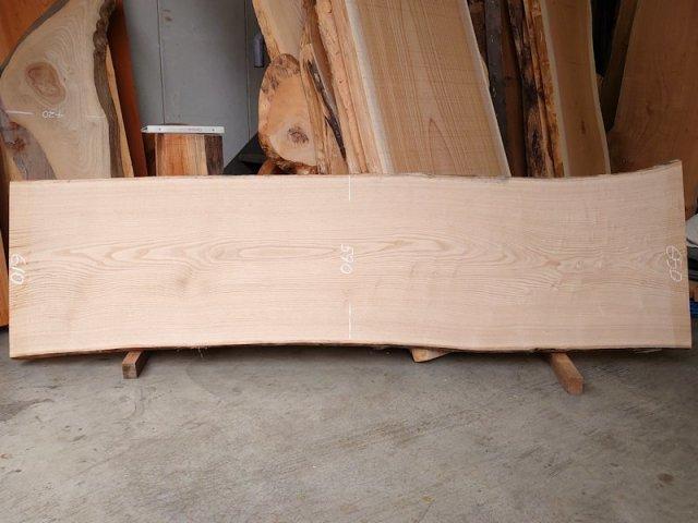KU-151 栗クリ 国産 天然耳付き板 2300×650 天然乾燥材