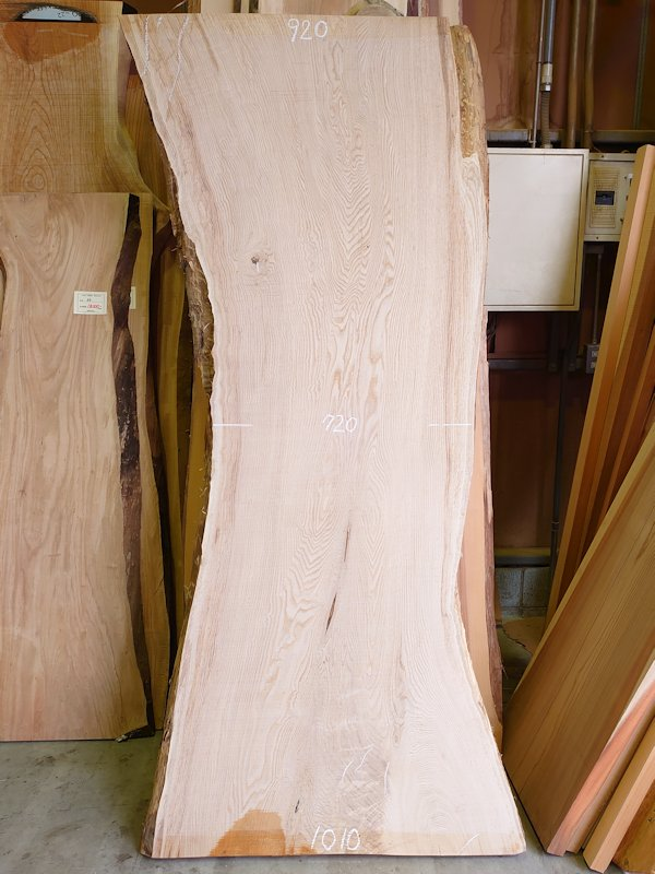 KU-153 栗クリ 国産 天然耳付き板 2300×1000 天然乾燥材
