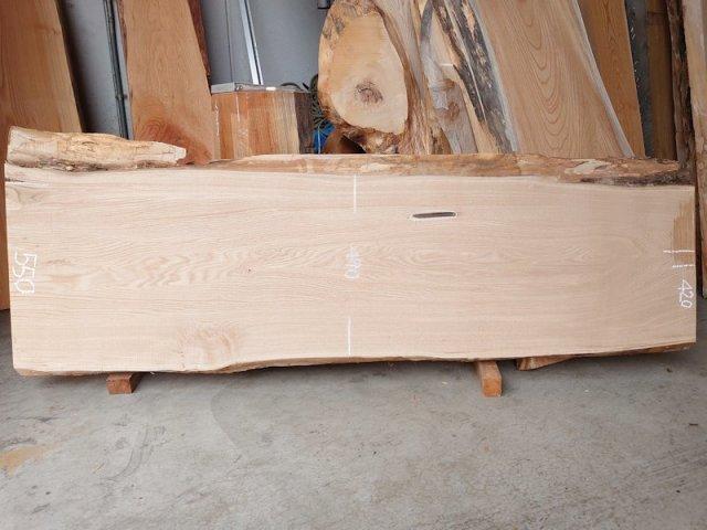 KU-154 栗クリ 国産 天然耳付き板 1820×600 天然乾燥材