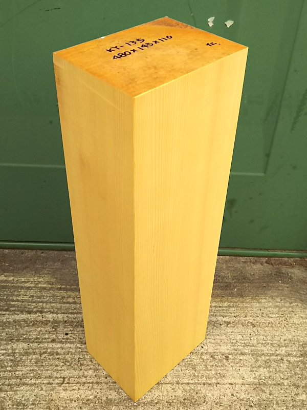 KY-135 榧カヤかや 彫刻用材 480×145×110 乾燥材