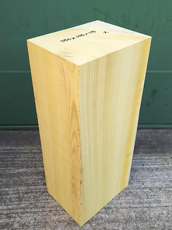 KY-144 榧カヤかや 国産 彫刻用材 350×145×115 乾燥材