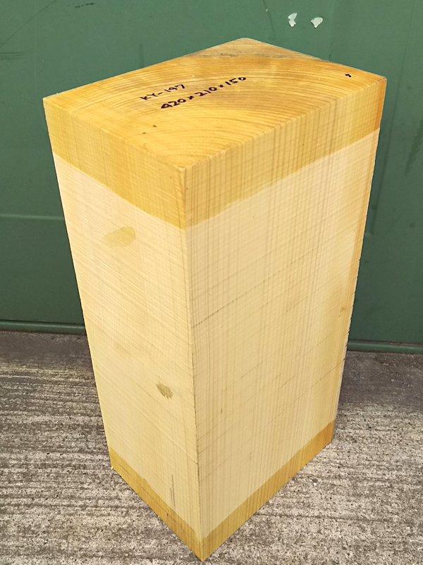 KY-147 榧カヤかや 国産 彫刻用材 420×210×150 乾燥材