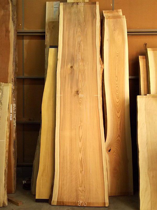 S-227 杉スギすぎ 国産 天然耳付き板 3400×750 天然乾燥材