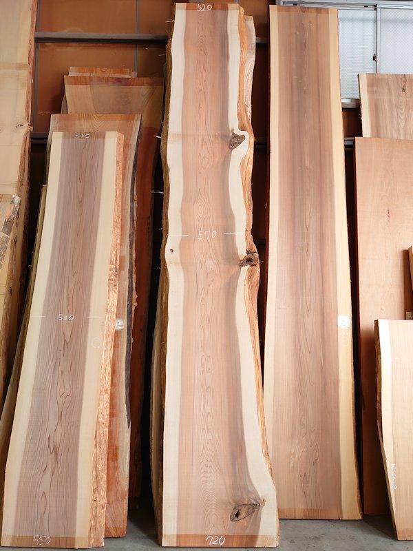 S-239 杉スギすぎ 国産 天然耳付き板 4100×600 天然乾燥材