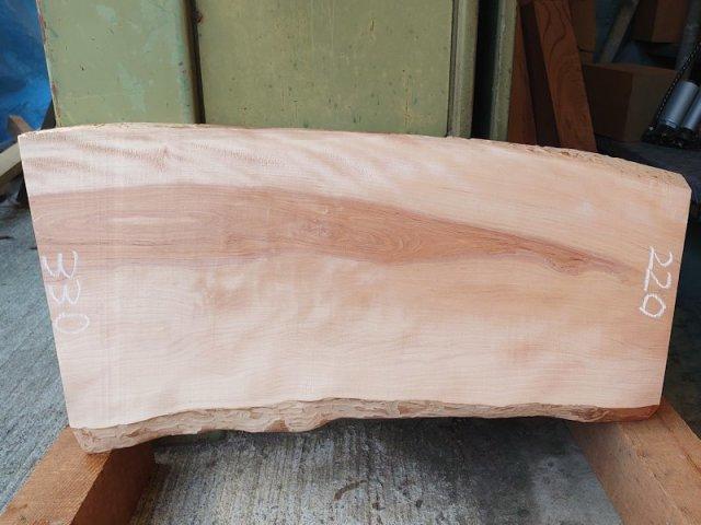 SA-206 樺桜(カバサクラ) 国産 天然耳付き板 600×350 天然乾燥材 表面加工済