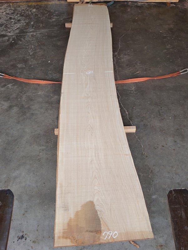 SN-121 栓センノキ 天然耳付き板 4080×650  天然乾燥材