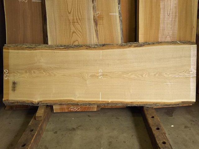 TM-196 タモ 天然耳付き板 2000×550  天然乾燥材