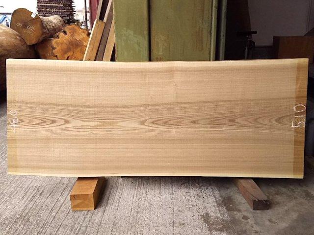 TM-205 タモ 天然耳付き板 1250×500  天然乾燥材