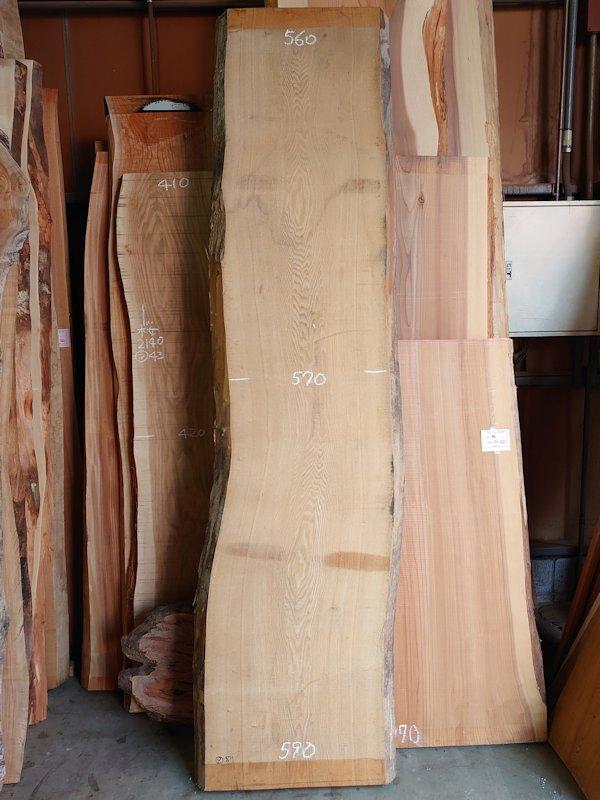 TM-213 タモ 天然耳付き板 2720×650  天然乾燥材