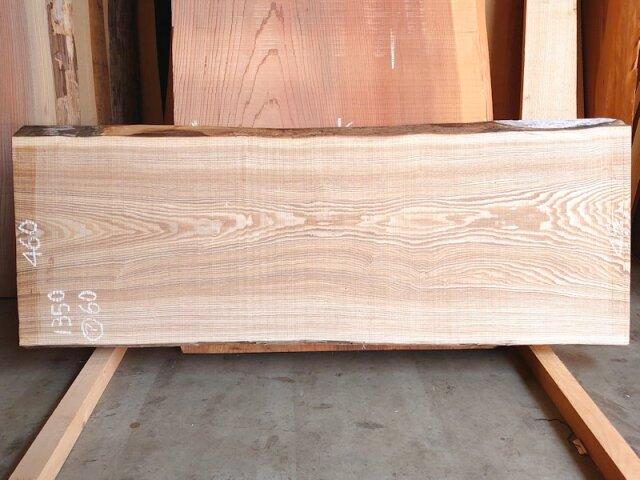 TM-214 タモ 天然耳付き板 1350×500  天然乾燥材
