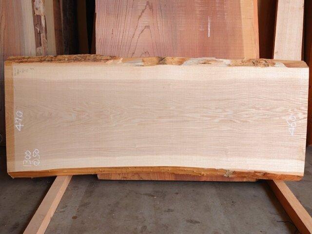 TM-215 タモ 天然耳付き板 1300×550  天然乾燥材