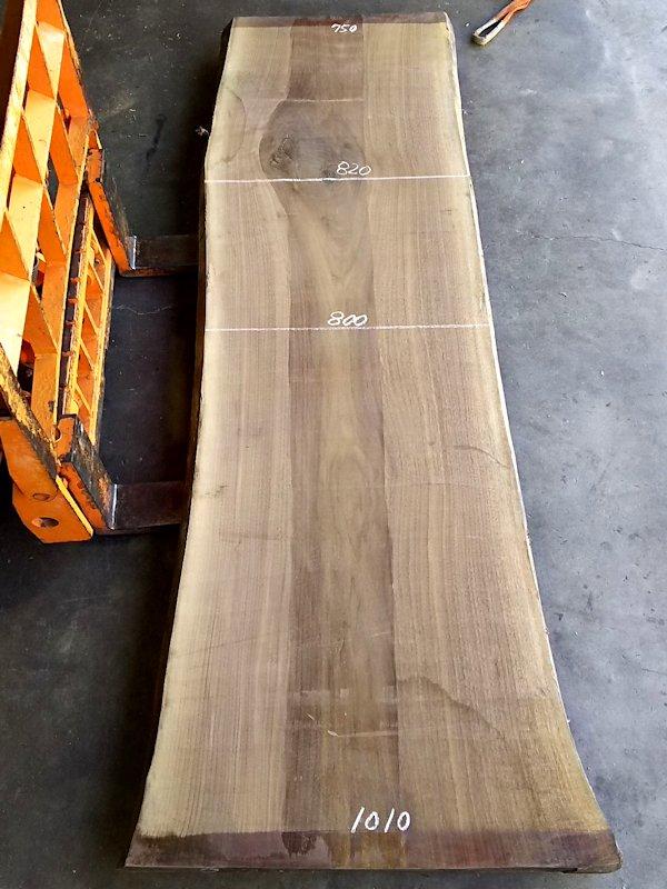 WO-139 ブラックウォールナット 耳付き一枚板テーブル用 2700×850 天然乾燥材