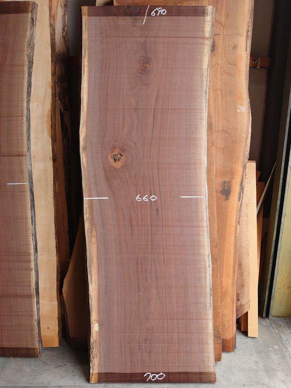 WO-158 ブラックウォールナット 天然耳付き板 2010×700 天然乾燥材