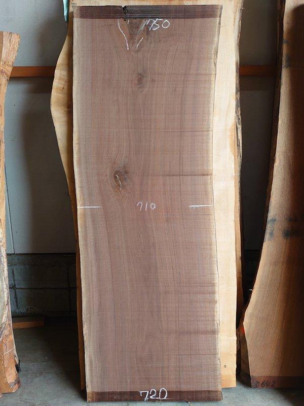 WO-159 ブラックウォールナット 天然耳付き板 2040×750 天然乾燥材